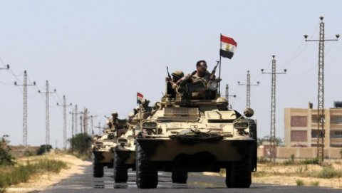 The Egyptian Army Preparing to hit sites on Egypt borders with Palestine