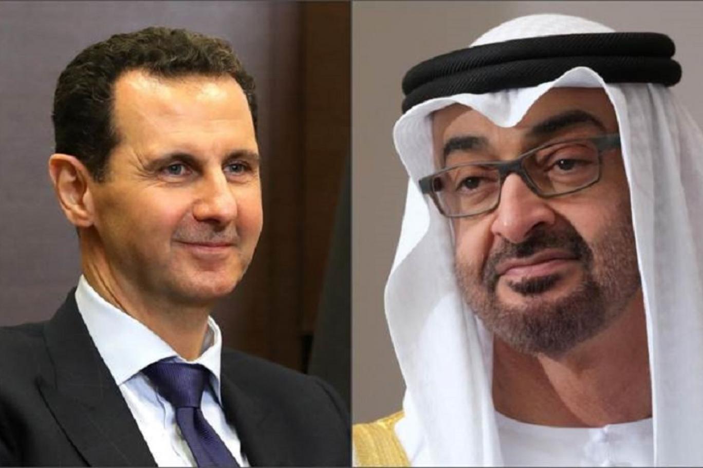 تقرير فرنسي يكشف ما فعله محمد بن زايد مع بشار الأسد منذ 2018