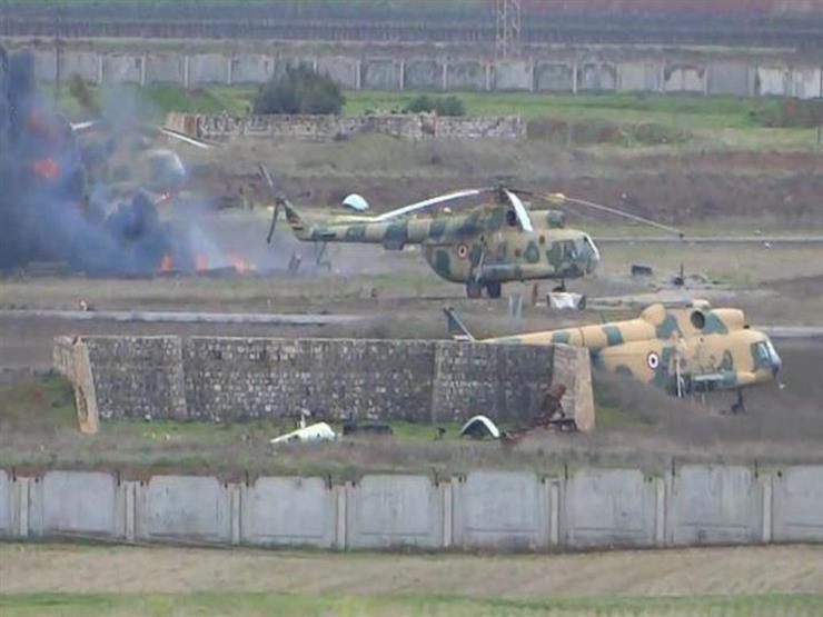 خاص الدرر| نظام الأسد ينقل طائرات مروحية من مطار حماة إلى هذه الجهة
