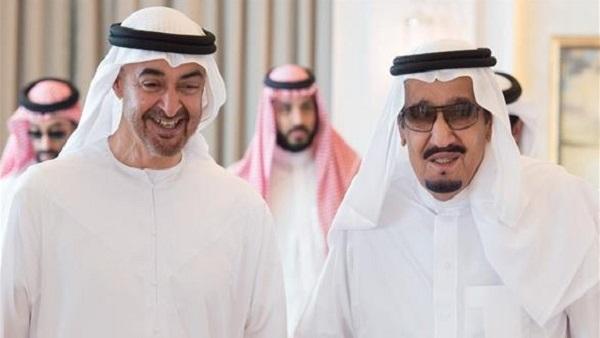 اتصال عاجل بين الملك سلمان وبن زايد بعد تصاعد الخلافات بين البلدين