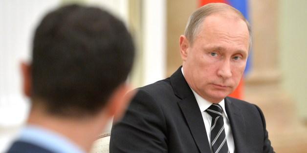 """موقف مهين لـ""""بشار الأسد"""" أمام بوتين (صورة)"""
