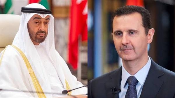 """بعد اتصال """"ابن زايد"""".. خطوة جديدة من الإمارات تجاه نظام الأسد"""