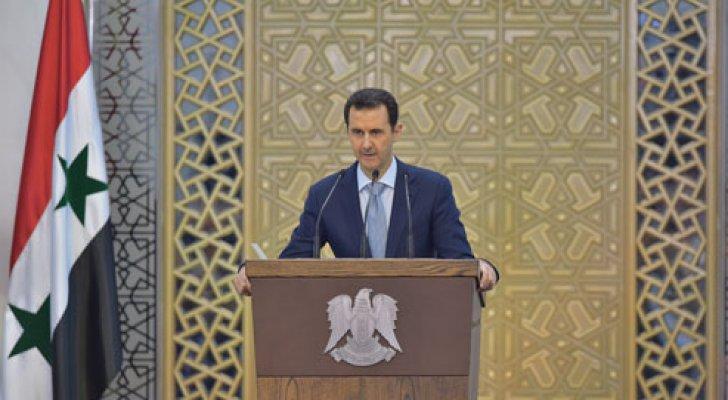 """السويداء توجه رسالة بـ""""الجداريات"""" إلى بشار الأسد بشأن ترشحه لرئاسة سوريا (صور)"""
