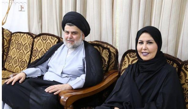 """زواج فجر السعيد من مقتدى الصدر يشعل """"تويتر""""..والإعلامية الكويتية توضح"""