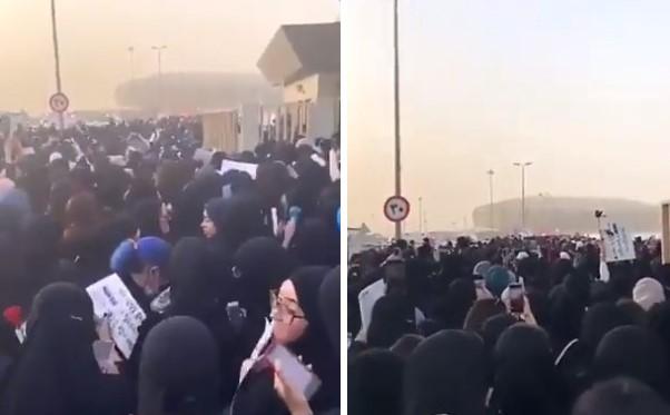 """""""سوبر جونيور"""" يثير جنون فتيات السعودية.. مشاهد صادمة وصراخ لآلاف النساء في موسم جدة (فيديو)"""