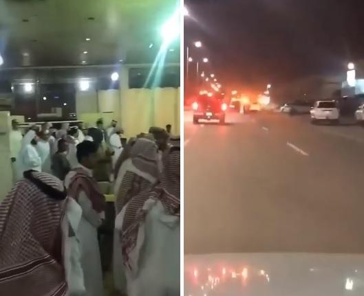 عشرات السعوديين يهجمون على محل بسبب أفعال صاحبه.. والشرطة تطوق المكان (فيديو)