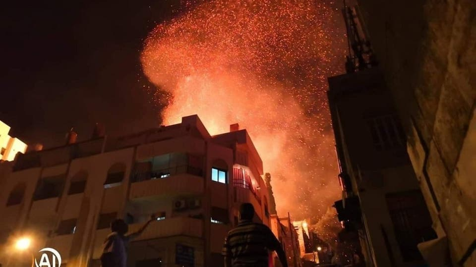 ما هو سبب الحريق الضخم قرب قصر بشار الأسد في دمشق؟