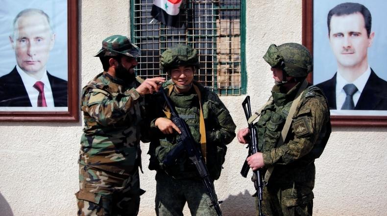 مشهد صادم لجنود روس في هذه المنطقة بدمشق (صورة)