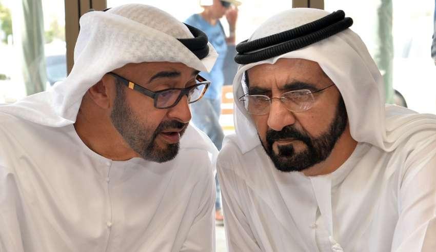 """""""ابن زايد"""" يرد على هجوم حاكم دبي على ضاحي خلفان والمزروعي"""