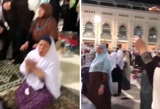 زغاريد جماعية وتصفيق من نسوة في المسجد الحرام بمكة.. والسبب صادم (فيديو)
