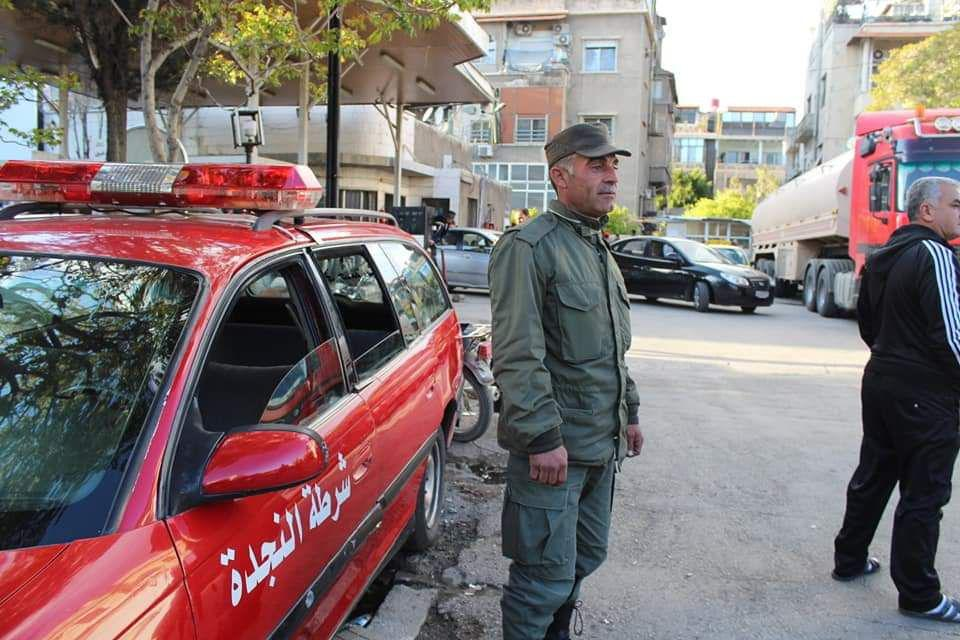 انتحار عنصرمن شرطة النجدة أمام مبنى محافظة حلب وهذا السبب
