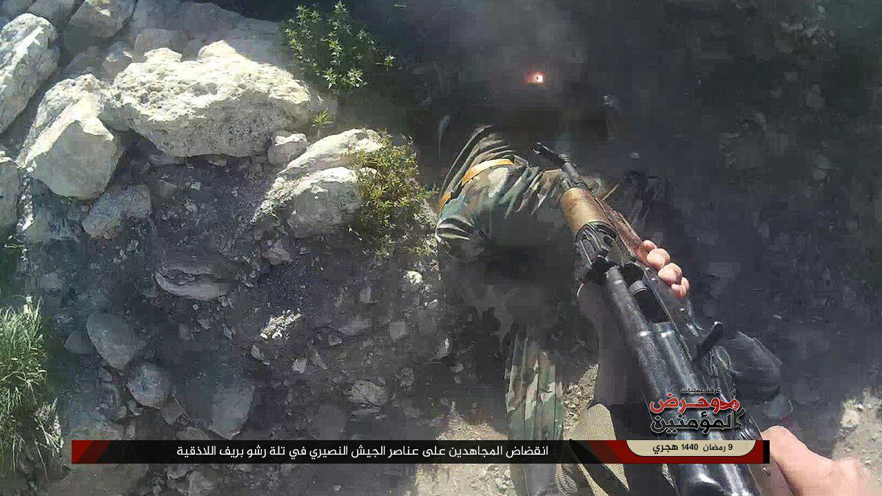 """""""وحرض المؤمنين"""" تكشف تفاصيل ضربة استباقية أربكت """"جيش الأسد"""" وخلطت أوراقه بريف اللاذقية (صور)"""