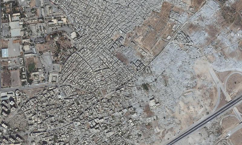 صور الأقمار الصناعية تكشف تغير معالم منطقة في سوريا خلال 4 أشهر فقط