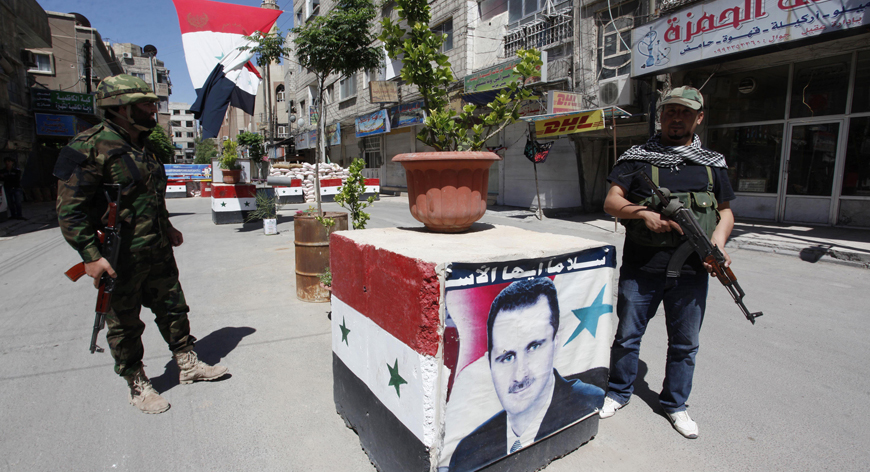 """شجار بين جرحى """"جيش الأسد"""" وشرطة النظام في اللاذقية (فيديو)"""