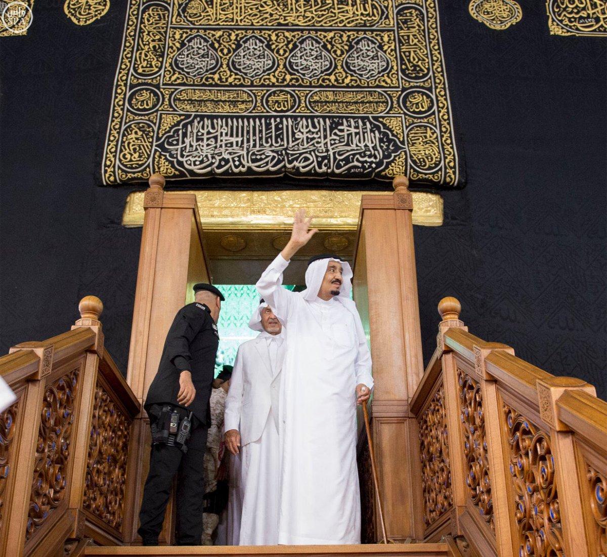 """مفاجأة.. نجل قيادي في """"حماس"""" يخترق ترتيبات الملك سلمان (صور)"""