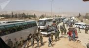 الدفعة الثانية من مهجري حرستا تغادر الغوطة الشرقية إلى شمال سوريا