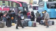 جرحى برصاص شبيحة الأسد على قافلة مهجري الغوطة.. والدفعة الأخيرة تصل إلى قلعة المضيق