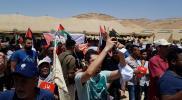 """آلاف الأردنيين يتظاهرون دعمًا لـ""""مسيرة العودة"""" بأقرب نقطة لفلسطين"""