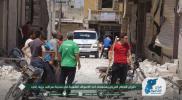 طيران النظام الحربي يستهدف أحد الأسواق الشعبية في مدينة سراقب بريف إدلب