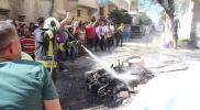 تزامناً مع التقدم شرق الفرات.. جرحى مدنيين في تفجير جديد ضرب وسط مدينة الباب بحلب