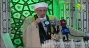 """بالفيديو.. """"ابن البوطي"""" يُهين """"قوات الأسد"""" من على منبر """"الجامع الأموي"""""""