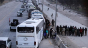 بدء خروج مقاتلي فيلق الرحمن وعوائلهم من الغوطة