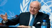 بومبيو ودي ميستورا: لا إعادة للإعمار في سوريا قبل تحقيق هذا الشرط