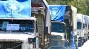 الأمم المتحدة ترسل عشرات الشاحنات الإغاثية إلى محافظة إدلب