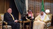 """وزير الخارجية الأمريكي يكشف ما بحثه مع """"الملك سلمان"""" في الرياض"""
