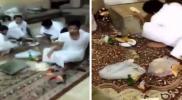 مشهد صادم.. عشرات الإماراتيين مفطرون في نهار رمضان ويتزاحمون على الطعام (فيديو)