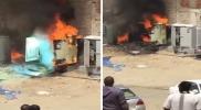 لقطات مرعبة للدخان والنار.. انفجارات عنيفة تهز مكة والسعوديون يصرخون في الشوارع (فيديو)