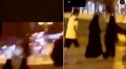 #متحرش_تبوك_بفتاة_مع_طفلها.. سعودي يباغت امرأة من الخلف بحركة جنسية (فيديو)
