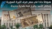هبوطا حادا في سعر صرف الليرة السورية.. ونظام الأسد يطرح فئة نقدية جديدة