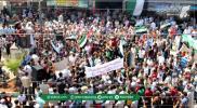مظاهرات في الشمال المحرر تندد بجرائم نظام الأسد بحق آلاف المعتقلين ( صور)