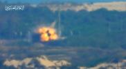 شاهد.. صاروخ قسامي ينسف حافلة جنود إسرائيليين قرب قاعدة زيكيم