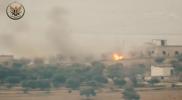 """صاروخ مضاد لـ""""الجبهة الوطنية"""" يباغت """"قوات الأسد"""" ويبيد مجموعة منهم جنوبي إدلب (فيديو)"""