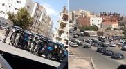 حرب شوارع بالمدينة المنورة.. شرطي سعودي يطلق النار على مديره وزملائه (فيديو)
