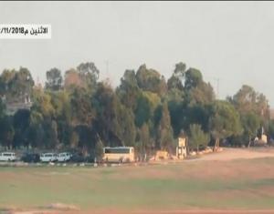 """لقطات مثيرة لاستهداف """"حماس"""" حافلة جنود إسرائيلية بصاروخ """"كورنيت"""" (فيديو)"""