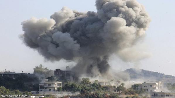 التحالف يشن 10 غارات جوية علي القلمون الشرقي بريف دمشق والثوار يُسقطون طائرة للأسد