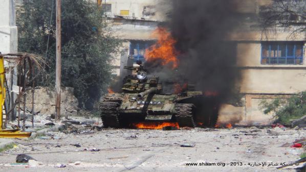 تدمير دبابة ثانية على حاجز أبو شفيق بريف حماة  + صورة