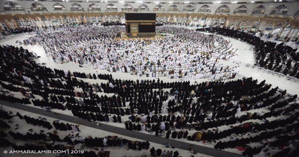 ظاهرة غريبة على غير العادة.. المسجد الحرام يتشح بالسواد (صور)   الدرر الشامية