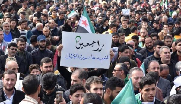 في الذكرى الثامنة للثورة السورية