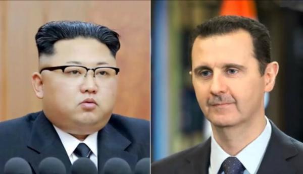 """بعد إرسالها أسلحة محظورة للنظام.. """"الأسد"""" يبعث برسالة لزعيم كوريا الشمالية"""