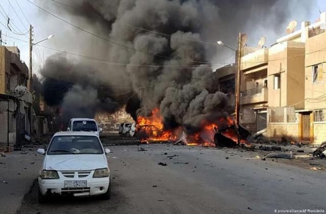 عشرات القتلى والجرحى في سلسلة تفجيرات ضربت مدينة القامشلي في الحسكة
