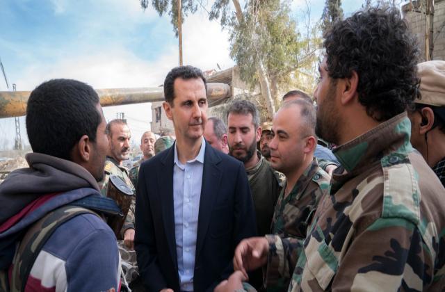 """""""المحيسني"""" يوضح سبب زيارة الأسد إلى الغوطة الشرقية"""