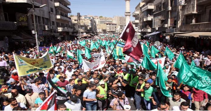 """مسيرات في الأردن نصرة للأقصى وتنديدًا بالممارسات """"الإسرائيلية"""""""