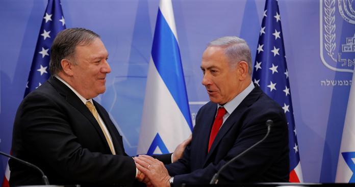 """""""بومبيو"""" يصف """"ترامب"""" بـ""""منقذ اليهود"""" من إيران عقب وعوده حول الجولان المحتل"""