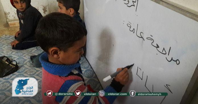"""شباب إدلب يتحدى """"نظام الأسد"""" وروسيا.. لن تحرموا أطفال المُحرَّر من التعليم (صور)"""