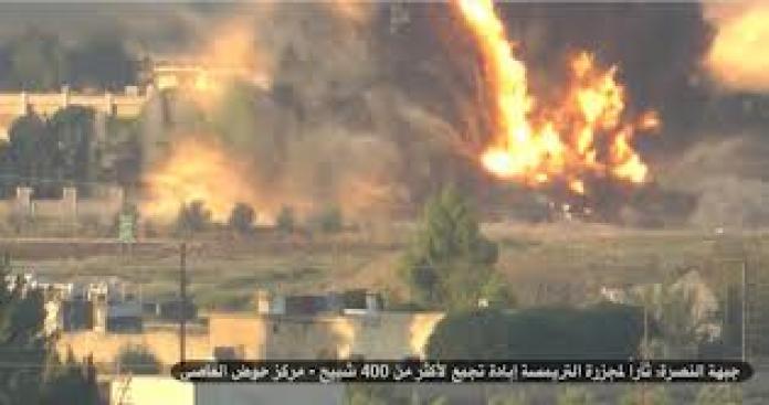 مقتل 70 شبيحاً في عملية استشهادية لجبهة النصرة بدمشق