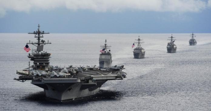 بالصور.. أمريكا ترسل للخليج قطعة حربية تحسم بها دخولها في مواجهة مع إيران